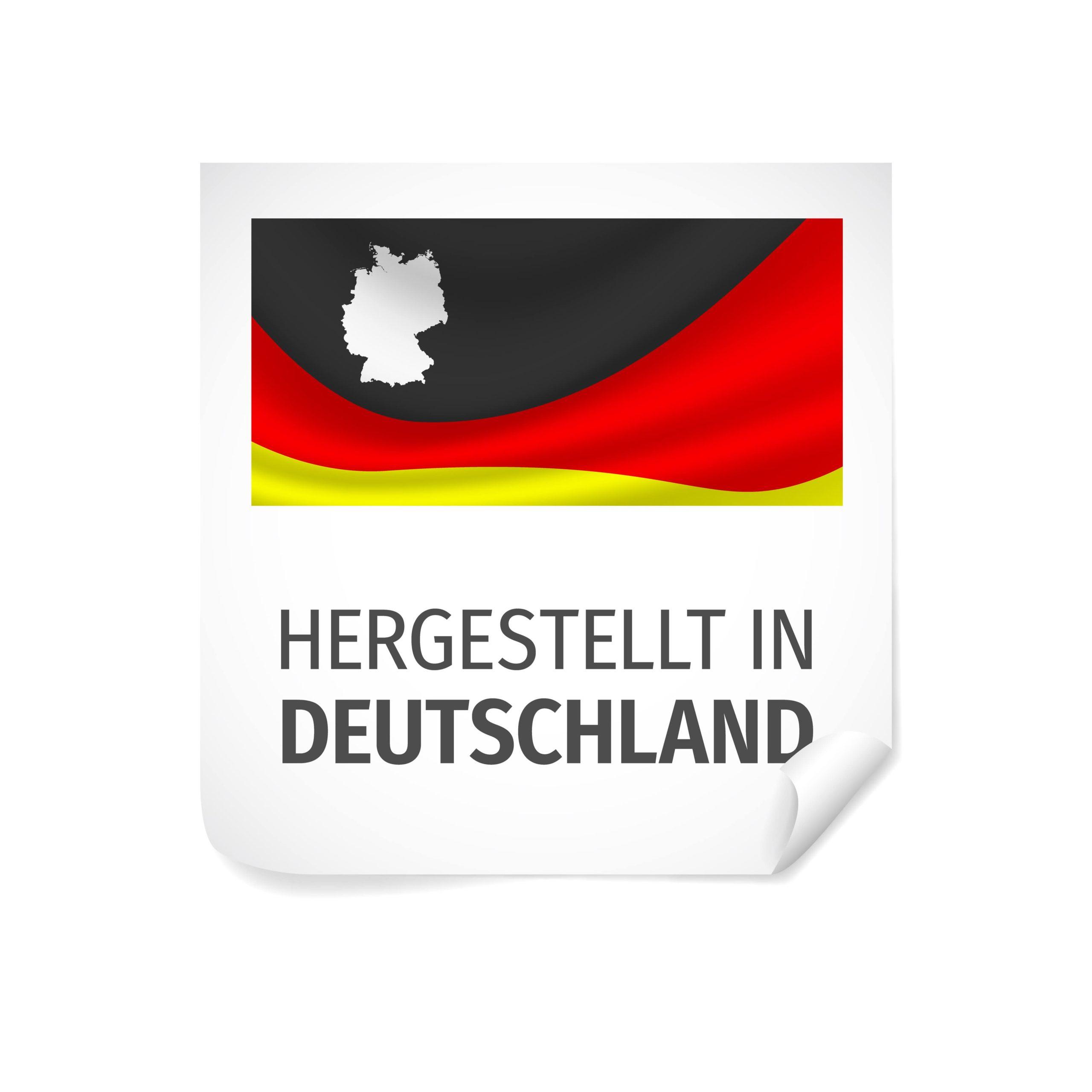 In Deutschland angefertigt.